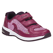 Buy Clarks Children's Piper Chat Sports Shoes, Pink Online at johnlewis.com