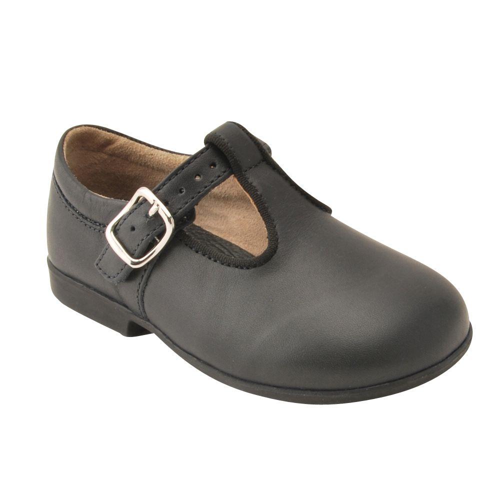 Start-Rite Start-rite Children's Buckled Jo Leather Shoes, Navy