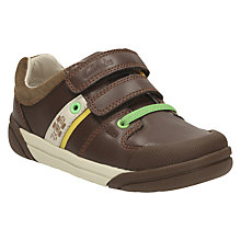 Buy Clarks Children's Lil Folk Cub Shoes, Brown Online at johnlewis.com