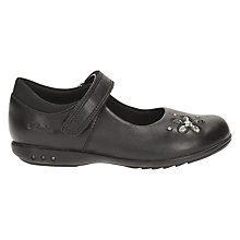 Buy Clarks Children's Trixie Candy Mary Jane Shoes, Black Leather Online at johnlewis.com