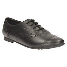 Buy Clarks Children's Selsey Cool Leather Brogue School Shoes, Black Online at johnlewis.com