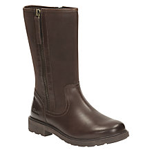 Buy Clarks Children's Ines Rain Leather Boots, Brown Online at johnlewis.com