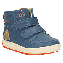 Buy Clarks Children's Maxi Jump First Shoes, Teal Online at johnlewis.com