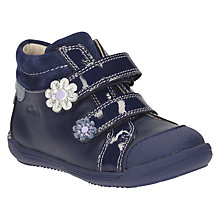 Buy Clarks Children's Softly Tam First Riptape Shoes, Navy Online at johnlewis.com