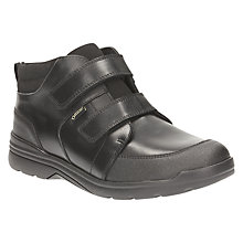 Buy Clarks Children's Loris Top GTX School Shoes, Black Leather Online at johnlewis.com