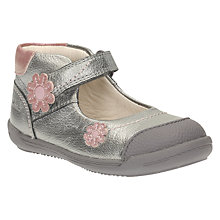 Buy Clark's Children's Softly Fiz Shoes, Metallic Silver Online at johnlewis.com