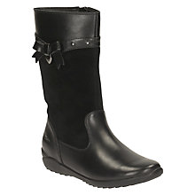 Buy Clarks Children's Ting Chic Boots, Black Online at johnlewis.com