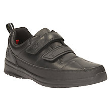 Buy Clarks Children's Gloform Reflect Ace Leather School Shoes, Black Online at johnlewis.com