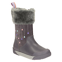 Buy Clarks Children's Lil Folk Rae Boots, Anthracite Online at johnlewis.com