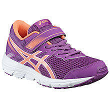 Buy Asics Children's Gel-Zaraca 5 PS Riptape Trainers, Purple/Multi Online at johnlewis.com