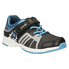 Buy Clarks Children's Gloform Reflect Spy Trainers, Blue Online at johnlewis.com