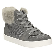 Buy Clarks Children's Pattie Minx High-Tops, Silver Online at johnlewis.com