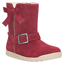 Buy Clarks Children's Crazy Fun Suede Boots, Red Online at johnlewis.com