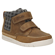 Buy Clarks Children's Crazy Ben Leather First Shoes, Tan Online at johnlewis.com