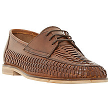 Buy Dune Brighton Pier Woven Leather Lace-Up Shoes, Tan Online at johnlewis.com