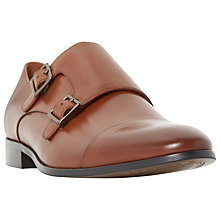 Buy Dune Reynolds Monk Leather Shoes, Tan Online at johnlewis.com