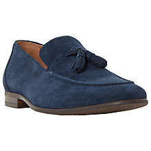 Buy Dune Result Double Tassel Loafers, Navy Online at johnlewis.com
