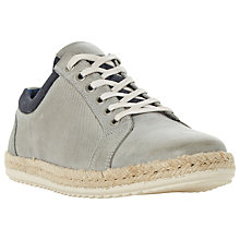 Buy Dune Tobago Espadrille Detail Leather Trainers Online at johnlewis.com