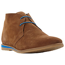 Buy Bertie Colour Suede Lace-Up Desert Boots, Tan Online at johnlewis.com