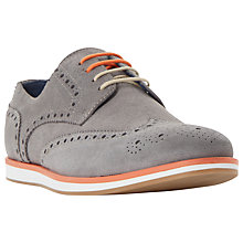 Buy Dune Brisbane Wedge Sole Colour Pop Suede Brogues Online at johnlewis.com