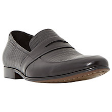Buy Dune Rattlesnake Contrasting Leather Penny Loafers, Black Online at johnlewis.com