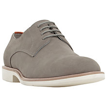 Buy Dune Beatnik Nubuck Lace-Up Derby Shoes, Grey Online at johnlewis.com
