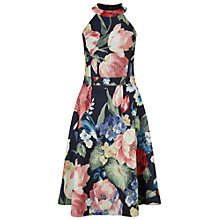 Buy Miss Selfridge Floral Lace Back Midi Dress, Black Online at johnlewis.com