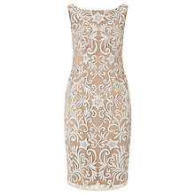 Buy Adrianna Papell Sequin Embroidered Sheath Dress, Ivory Online at johnlewis.com