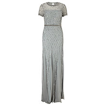 Buy Adrianna Papell Cap Sleeve Beaded Gown, Blue Mist Online at johnlewis.com