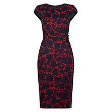 Buy Hobbs Jessie Dress, Peony Red Navy Online at johnlewis.com