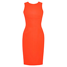 Buy Karen Millen Modern Silhouette Dress, Orange/Multi Online at johnlewis.com