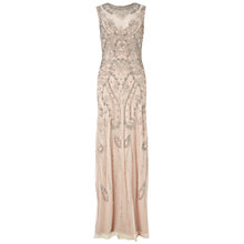 Buy Adrianna Papell Sleeveless Beaded Gown, Shell Online at johnlewis.com