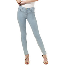 Buy Miss Selfridge Pretty Sofia Jeans, Bleached Denim Online at johnlewis.com