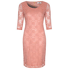 Buy True Decadence Lace Layer Midi Dress, Dusty Pink Online at johnlewis.com