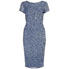 Buy Adrianna Papell Short Beaded Cocktail Dress, Nile Blue Online at johnlewis.com