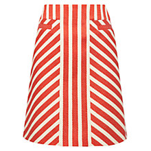 Buy Karen Millen Striped Tweed Skirt, Red/Multi Online at johnlewis.com