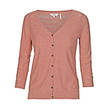 Buy Fat Face Annie Cotton Pointelle Cardigan, Sunkissed Online at johnlewis.com