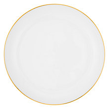 Buy John Lewis Contour Gold Bone China Plate, White/ Gold Online at johnlewis.com