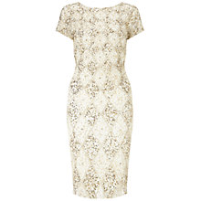Buy Adrianna Papell Cap Sleeve Cocktail Dress, Ivory/Gold Online at johnlewis.com