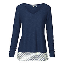 Buy Fat Face Wilton Knitted Mix Jumper Online at johnlewis.com