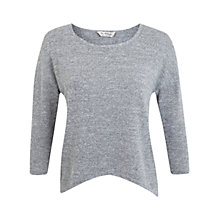 Buy Miss Selfridge Long Sleeve Twist Top, Grey Online at johnlewis.com