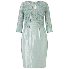 Buy Adrianna Papell Origami Waist Sheath Dress With Bolero Jacket, Icy Mint Online at johnlewis.com