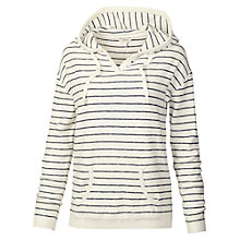 Buy Fat Face Southsea Stripe Hoodie, White Online at johnlewis.com