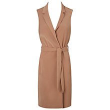 Buy Miss Selfridge Sleeveless Belted Jacket, Camel Online at johnlewis.com
