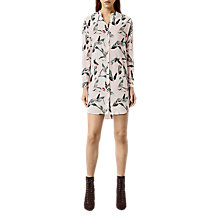 Buy AllSaints Avalon Canna Dress, Chalk White Online at johnlewis.com