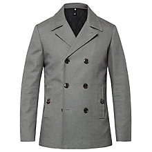 Buy Ted Baker Musgrave Pea Coat, Grey Online at johnlewis.com