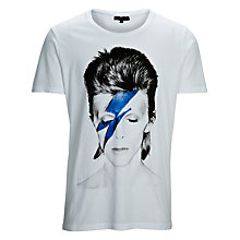 Buy Selected Homme David Bowie Short Sleeve Crew Neck T-Shirt, White Online at johnlewis.com