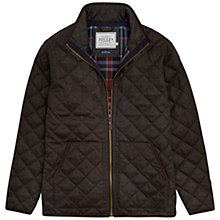 Buy Joules Estate Quilted Jacket, Bark Brown Online at johnlewis.com