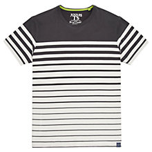 Buy Joules Skippteron Striped T-Shirt, Coal Online at johnlewis.com