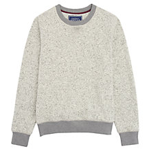Buy Joules Heyday Crew Neck Sweater, Pebble Grey Online at johnlewis.com